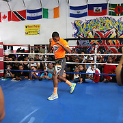 KISSIMMEE, FL - OCTOBER 05: Puerto Rican boxer Felix Verdejo is seen during his media workout event at the Kissimmee Boxing Gym on October 4, 2015 in Kissimmee, Florida. Verdejo is returning from a hand injury and announced his next fight will take place in Kissimmee on October 31. (Photo by Alex Menendez/Getty Images) *** Local Caption *** Felix Verdejo
