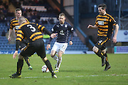 Martin Boyle is outnumbered as he runs at the Alloa Athletic defence - Dundee v Alloa Athletic, SPFL Championship at Dens Park<br /> <br />  - &copy; David Young - www.davidyoungphoto.co.uk - email: davidyoungphoto@gmail.com
