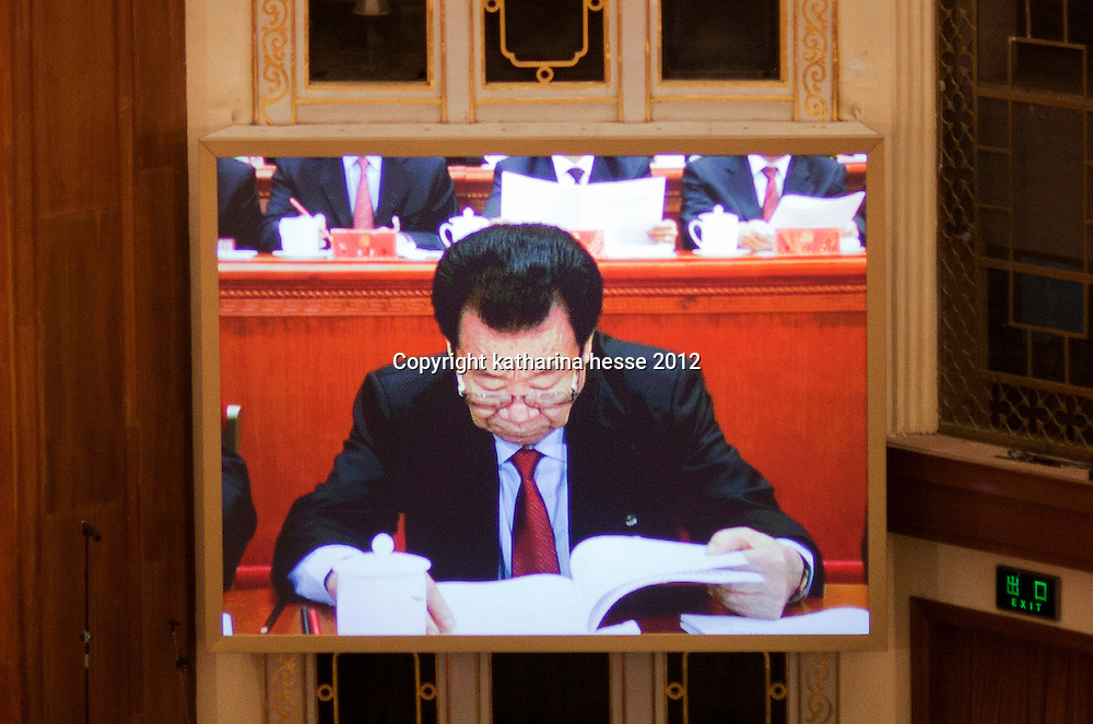 BEIJING, NOV 8, 2012 : Li Ruihuan, attends the 18th Party Congress of the CPC ( Communist Party Of China ).