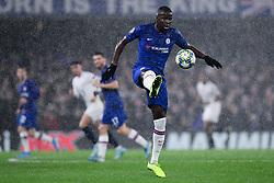 Kurt Zouma of Chelsea controls the ball  - Mandatory by-line: Ryan Hiscott/JMP - 10/12/2019 - FOOTBALL - Stamford Bridge - London, England - Chelsea v Lille - UEFA Champions League group stage
