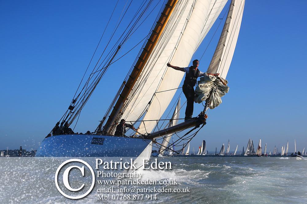 2015, Mariquita, J P Morgan, Round the Island Race. Cowes, Isle of Wight, UK, Sports Photography