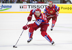 Alexei Tereshenko of Russia during ice-hockey match between Russia and Finland of Group E in Qualifying Round of IIHF 2011 World Championship Slovakia, on May 9, 2011 in Orange Arena, Bratislava, Slovakia. Finland defeated Russia after overtime and shootout 3-2. (Photo By Vid Ponikvar / Sportida.com)