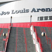 Joe Louis arena, home of the Detroit Red Wings and many other sporting events and concerts.
