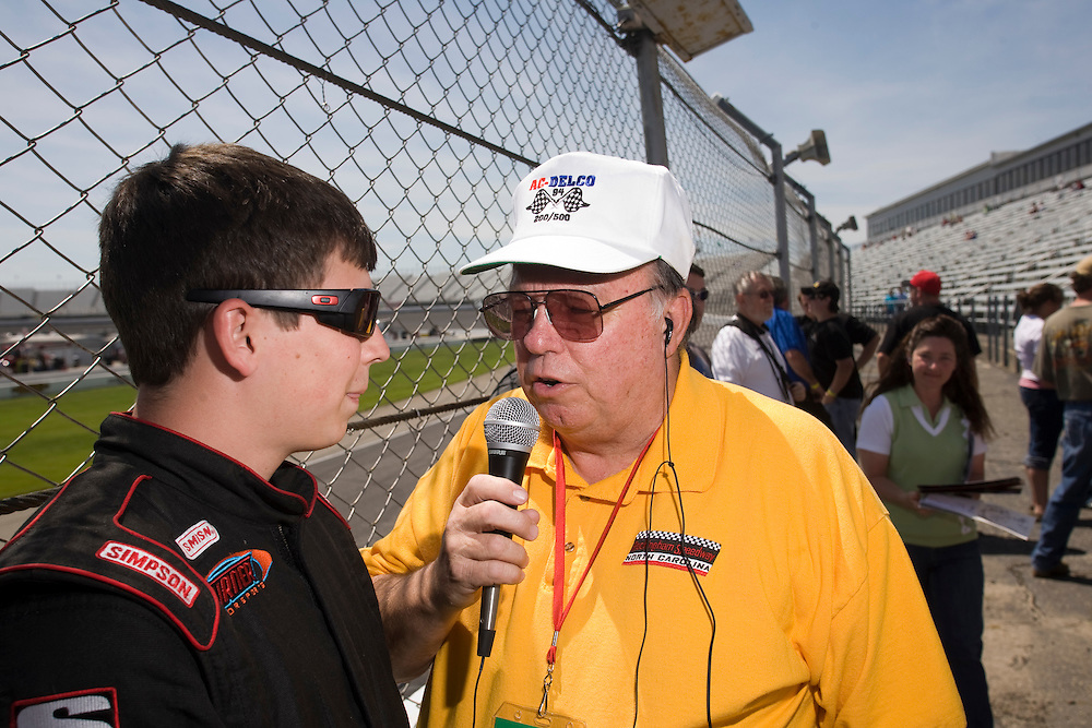 Marty Webb has returned to his old post behind the microphone at Rockingham Speedway.
