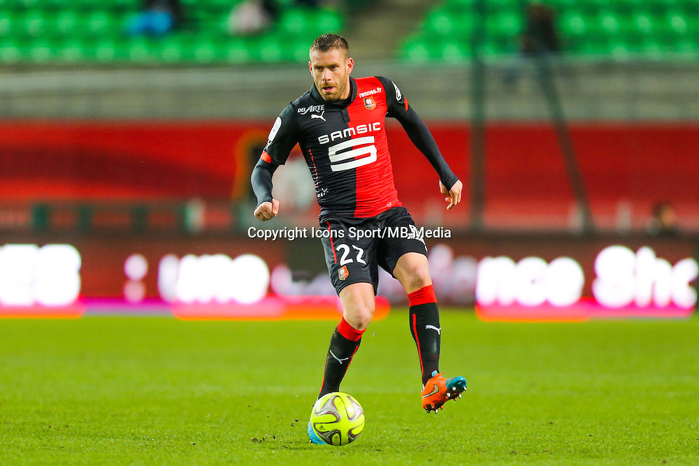 Sylvain ARMAND  - 25.01.2015 - Rennes / Caen  - 22eme journee de Ligue1<br /> Photo : Vincent Michel / Icon Sport *** Local Caption ***
