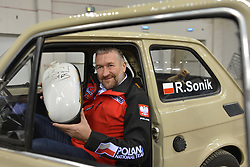 December 8, 2017 - Krakow, Poland - Rafal Sonik, a Polish quad rally driver, promotes Dakar Rally 2018, during a press conference ahead of the Krakow's leg of the FIM SuperEnduro World Championship 2018 in Tauron Arena...On Friday, December 8, 2017, in Krakow, Poland. (Credit Image: © Artur Widak/NurPhoto via ZUMA Press)