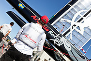 PORTUGAL, Cascais. 7th August 2011. America's Cup World Series. Day 2. Morgan Trubovich, ARTEMIS RACING.
