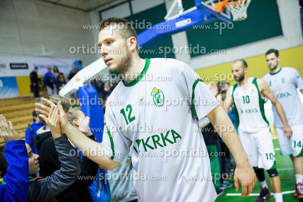 Imran Polutak of Krka after the basketball match between KK Krka and KK Union Olimpija in Round #7 of Telemach League for Slovenian National Champion 2014/15 on April 18, 2015 in Dvorana Leona Stuklja, Novo mesto, Slovenia. Photo by Vid Ponikvar / Sportida