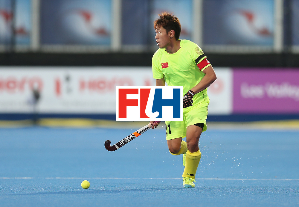 LONDON, ENGLAND - JUNE 15:  Chen Du of China during the Hero Hockey World League Semi Final match between England and China at Lee Valley Hockey and Tennis Centre on June 15, 2017 in London, England.  (Photo by Alex Morton/Getty Images)