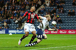 Josh King of Bournemouth fails to get on the end of a cross - Mandatory byline: Matt McNulty/JMP - 07966386802 - 22/09/2015 - FOOTBALL - Deepdale Stadium -Preston,England - Preston North End v Bournemouth - Capital One Cup - Third Round