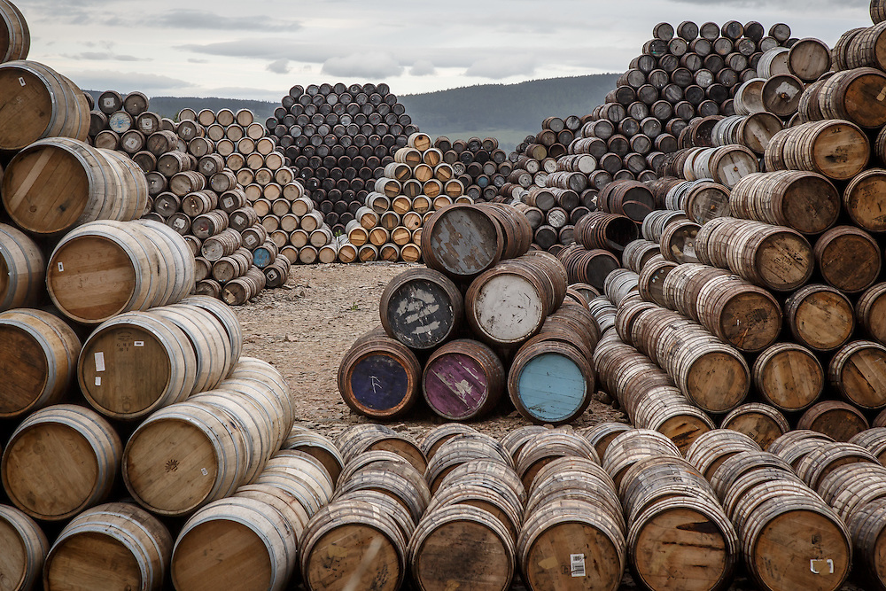 Used barrels at Speyside Cooperage, Craigellachie, Scotland, July 13, 2015. Gary He/DRAMBOX MEDIA LIBRARY