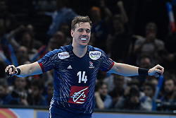 Mahe Kentin celebrate after a goal during 25th IHF men's world championship 2017 match between France and Slovenia at Accord hotel Arena on january 24 2017 in Paris. France. PHOTO: CHRISTOPHE SAIDI / SIPA / Sportida