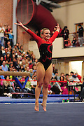 January 24, 2010; Stanford, CA, USA; Stanford Cardinal gymnast Blair Ryland performs on the floor during the meet against the UCLA Bruins at Burnham Pavilion. The Cardinal defeated the Bruins 196.43-195.83. Mandatory Credit: Kyle Terada-Terada Photo