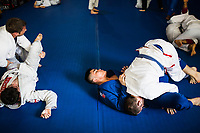 Students train in Brazilian jiu-jitsu at Bangkok Fight Lab in Bangkok, Thailand. Brazilian jiu-jitsu, with its focus on grappling and ground fighting, can be an important element of MMA fighting as well.