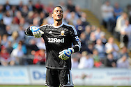 Swansea city keeper Michel Vorm .   Barclays Premier league, Swansea city v Everton at the Liberty stadium in Swansea, South Wales on Sat 22nd Sept 2012.   pic by  Andrew Orchard, Andrew Orchard sports photography,