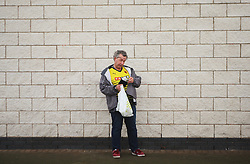 General view of a Watford fan before the match  - Mandatory byline: Jack Phillips/JMP - 07966386802 - 7/11/2015 - SPORT - FOOTBALL - Leicester - King Power Stadium - Leicester City v Watford - Barclays Premier League