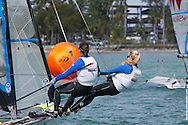 MIAMI, February 2, 2013 - Approaching the mark at the 2013 ISAF World Sailing Cup in Miami