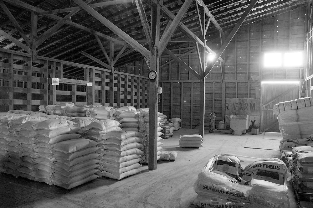 Stockroom of a feed mill