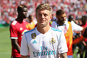 Real Madrid Midfielder Toni Kroos during the AON Tour 2017 match between Real Madrid and Manchester United at the Levi's Stadium, Santa Clara, USA on 23 July 2017.