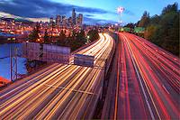 Interstate 5 & Seattle Skyline