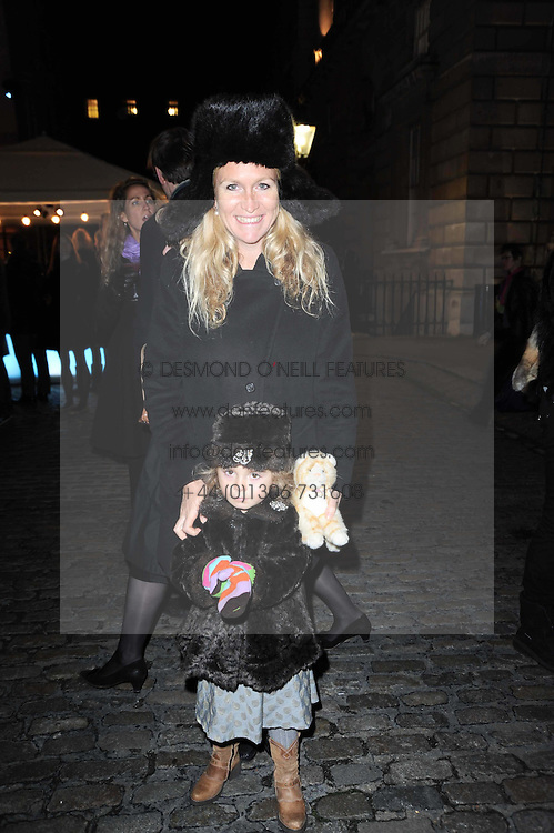 IMOGEN EDWARDS-JONES and her daughter ALLEGRA attend a Winter Party given by Tiffany & Co. Europe to launch the 10th season of Somerset House's Ice Skating Rink at Somerset House, The  Strand, London on 16th November 2009.