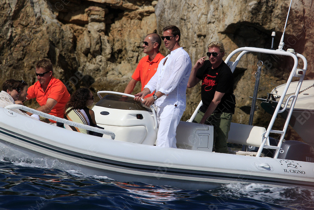 23.MAY.2012. ANTIBES<br /> <br /> BORIS BECKER AND HIS WIFE LILLY BECKER ON A BOAT AT EDEN ROCK HOTEL<br /> <br /> BYLINE: EDBIMAGEARCHIVE.CO.UK<br /> <br /> *THIS IMAGE IS STRICTLY FOR UK NEWSPAPERS AND MAGAZINES ONLY*<br /> *FOR WORLD WIDE SALES AND WEB USE PLEASE CONTACT EDBIMAGEARCHIVE - 0208 954 5968*