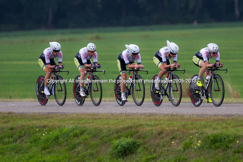 Boels Rental Ladies Tour Coevorden TTT 14th Parkhotel Valkenburg LadiesAafke Eshuis, Bianca van den Hoek, Ilona Hoeksma, Jermaine Post, Rozanne Slik, Ashleigh Neave