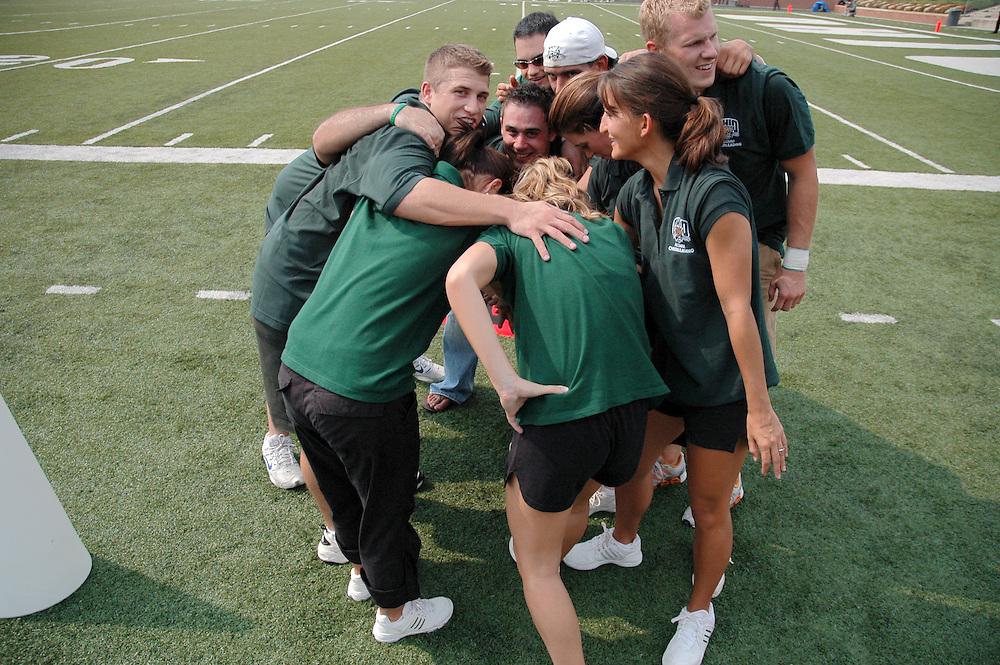 Alumni Cheerleader Huddle