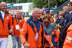 Gal Edward, NED, Glock's Zonik<br /> Rotterdam - Europameisterschaft Dressur, Springen und Para-Dressur 2019<br /> Impressionen am Rande<br /> Longines FEI European Championships Dressage Grand Prix - Teams (2nd group)<br /> Teamwertung 2. Gruppe<br /> 20. August 2019<br /> © www.sportfotos-lafrentz.de/Sharon Vandeput