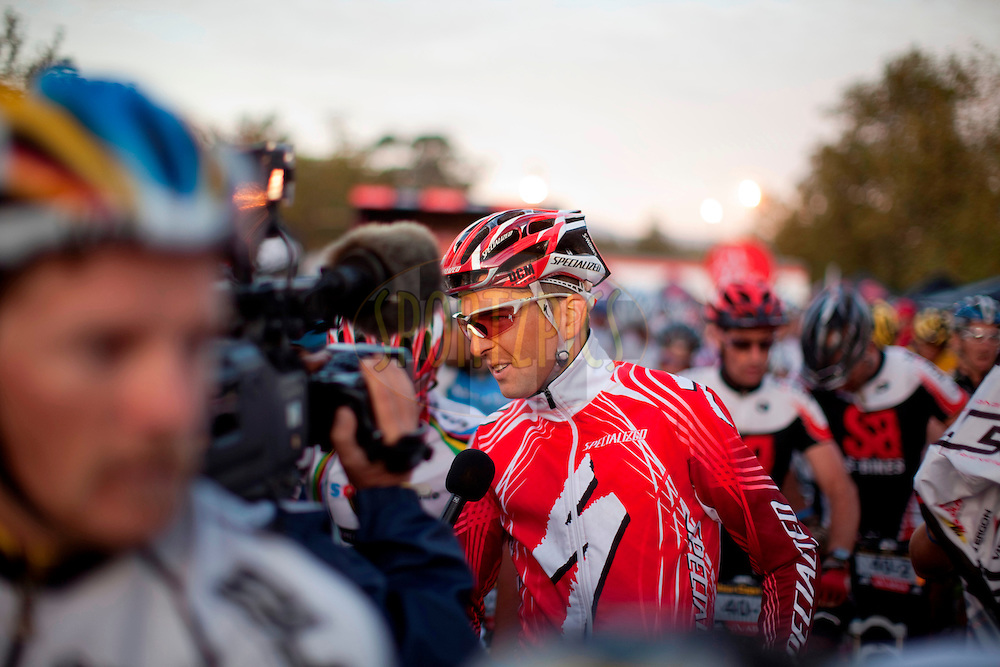 Oak Valley ( Elgin / Grabouw ), SOUTH AFRICA - Christoph Sauser of Songo.info during stage six of the Absa Cape Epic Mountain Bike Stage Race in Oak Valley ( Elgin / Grabouw ) on the 27 March 2009 in the Western Cape, South Africa..Photo by Gary Perkin /SPORTZPICS