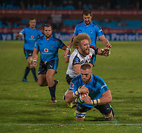 PRETORIA, SOUTH ARICA - MARCH 17: Jason Jenkins of the Vodacom Bulls scores a try during the Super Rugby match between Vodacom Bulls and Sunwolves at Loftus Versfeld on March 17, 2017 in Pretoria, South Africa. (Photo by Anton Geyser/Gallo Images)