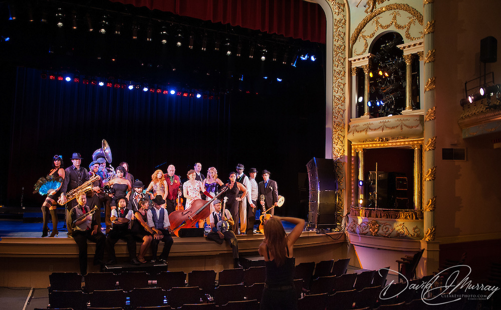 Vaud and the Villains being photographed by Jessica Verma before their performance at The Music Hall in Portsmouth, NH. July 2012