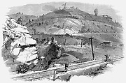 Baltimore and Ohio Railroad: Ladder of inclines over Boardtree Hill which allowed two carriages at a time from a full train to be shunted up an over the hill. This system operated until the Kingwood Tunnel was driven through the Alleghany Mountains. Wood
