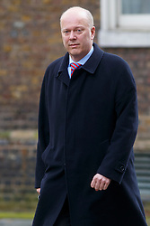 © Licensed to London News Pictures. 03/03/2015. LONDON, UK. Justice Secretary Chris Grayling attending to a cabinet meeting in Downing Street on Tuesday, 3 March 2015. Photo credit: Tolga Akmen/LNP