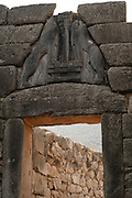 The Lion Gate at Mycenae near Nafplion, Greece.