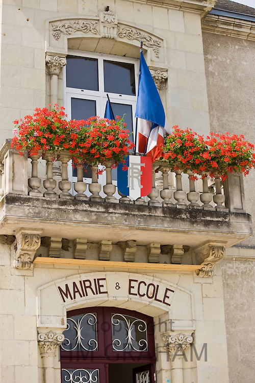 Town Hall and School Marie et Ecole at Souzay Champigny near Saumur, Loire Valley, France