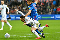 Football - 2018 / 2019 Sky Bet EFL Championship - Swansea City vs. Bolton Wanderers<br /> <br /> Connor Roberts of Swansea City collides with Gary O'Neil of Bolton Wanderers, at The Liberty Stadium.<br /> <br /> COLORSPORT/WINSTON BYNORTH