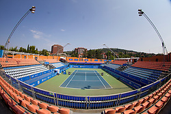 Center court before semi-final match of ATP Challenger Tilia Slovenia Open 2015 on August 14, 2015 in Tennis stadium SRC Marina, Portoroz / Portorose, Slovenia. Photo by Urban Urbanc / Sportida