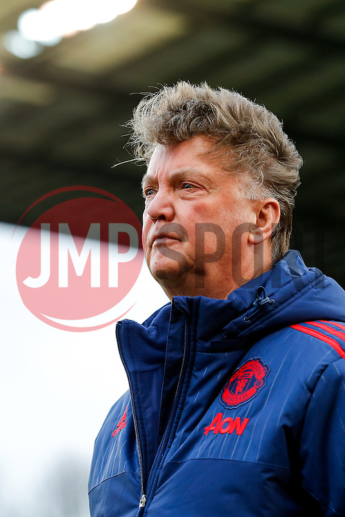 Manchester United Manager Louis van Gaal reappears from the tunnel after half time - Mandatory byline: Rogan Thomson/JMP - 26/12/2015 - FOOTBALL - Britannia Stadium - Stoke, England - Stoke City v Manchester United - Barclays Premier League - Boxing Day Fixture.