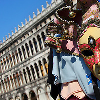 Alberto Carrera, Mask,Saint Mark´s Square,  Venice, Veneto, Italy, Europe