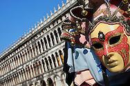 Alberto Carrera, Mask,Saint Mark´s Square,  Venice, Veneto, Italy, Europe