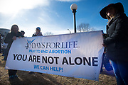 DENVER,COLORADO 13 JAN: Images from the March for Life and Mass for Life in Denver, Colorado. Mass was celebrated by Archbishop Samuel Aquila.
