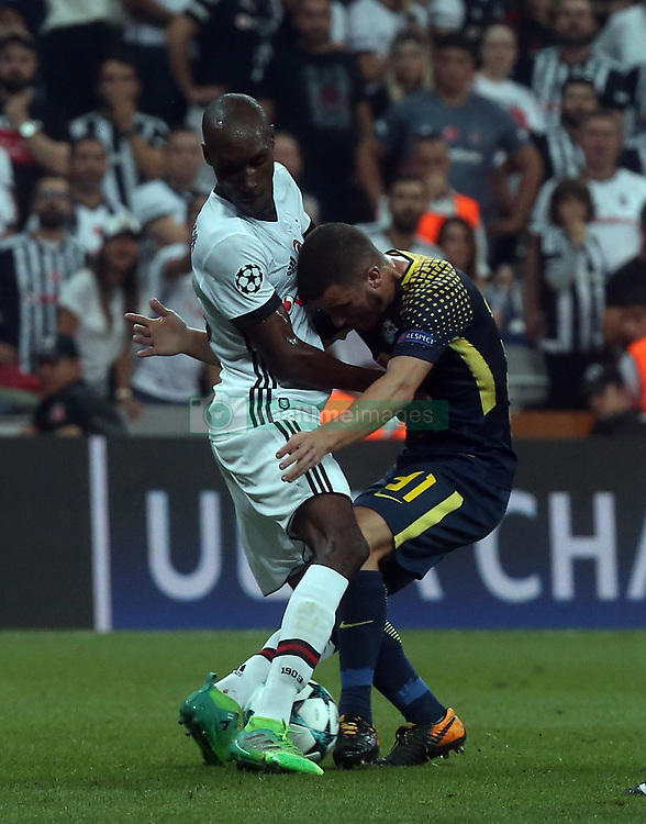 Diego Demme of Leipzig and Atiba Hutchinson of Besiktas during Besiktas vs. Leipzig UEFA Champions League game at Vodafone Park, Istanbul, September 26, 2017. Photo by Depo Photos/ABACAPRESS.COM