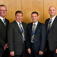 St Johnstone FC Borad of Directors from left, Stan Harris, Chairman Geoff Brown, Vice-Chairman Steve Brown and Charlie Fraser....29.10.11<br /> Picture by Graeme Hart.<br /> Copyright Perthshire Picture Agency<br /> Tel: 01738 623350  Mobile: 07990 594431