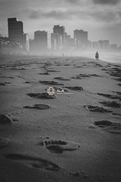 Early morning at Leblon Beach, Rio de Janeiro, Brazil.