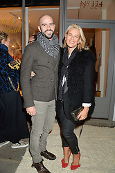TOM EDMUNDS and DEBORAH BRETT at a party hosted by Melissa Del Bono to celebrate the launch of her Meli Melo flagship store at 324 Portobello Road, London W10 on 28th November 2013.