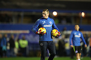 Brighton & Hove Albion goalkeeper David Stockdale (13) during the EFL Sky Bet Championship match between Birmingham City and Brighton and Hove Albion at St Andrews, Birmingham, England on 17 December 2016.
