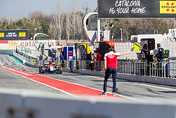 February 18, 2019 - Montmelo, Catalonia, Spain - Kimi Raikkonen of Alfa Romeo Racing seen in action during the afternoon session of the first day of F1 Test Days in Montmelo circuit. (Credit Image: © Javier MartíNez De La Puente/SOPA Images via ZUMA Wire)