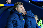 Oxford United manager Karl Robinson during the Leasing.com EFL Trophy match between Oxford United and Portsmouth at the Kassam Stadium, Oxford, England on 8 October 2019.