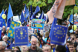 © Licensed to London News Pictures. 01/10/2017. Manchester, UK. An anti-brexit protest is taking place in Manchester today on the first day of the Conservative Party Conference that is being held at the Midland Hotel & Manchester Central. Photo credit: Andrew McCaren/LNP